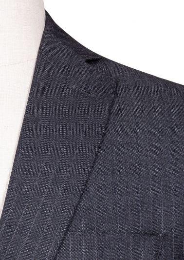 Brighton Suit | Charcoal Self Stripe