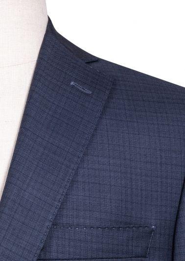 Brighton Suit | Blue Tonal Minicheck