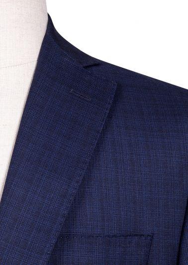 Brighton Suit | Blue Tonal Check