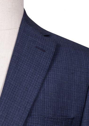 Brighton Suit | Blue Tonal Mini Check